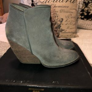 Very Volatile Whitby charcoal wedge bootie!